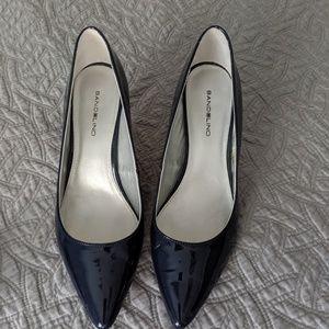 Navy, kitten heels